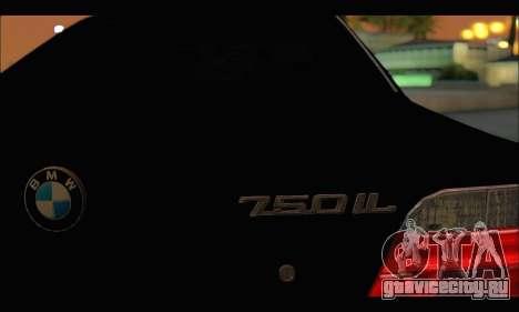 BMW 750iL для GTA San Andreas вид сверху