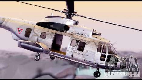 EC-725 Super Cougar для GTA San Andreas вид сзади слева