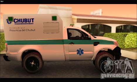 Ford Ranger 2013 Ambulancia Chubut для GTA San Andreas вид слева