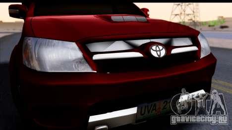 Toyota Hilux FB для GTA San Andreas вид справа