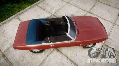 Chevrolet Camaro Mk.I 1968 rims1 для GTA 4 вид справа
