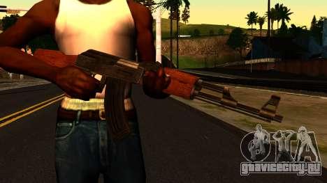 AK47 from GTA 4 для GTA San Andreas третий скриншот