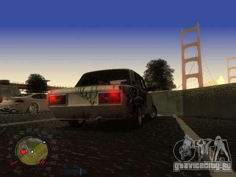ВАЗ 2105 Ржавое корыто для GTA San Andreas вид изнутри