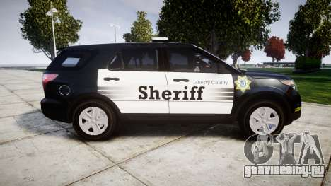 Ford Explorer 2013 County Sheriff [ELS] для GTA 4 вид слева