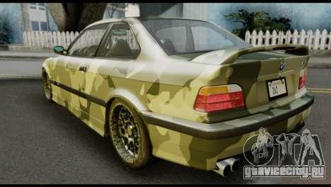 BMW M3 E36 Camo Drift для GTA San Andreas вид слева