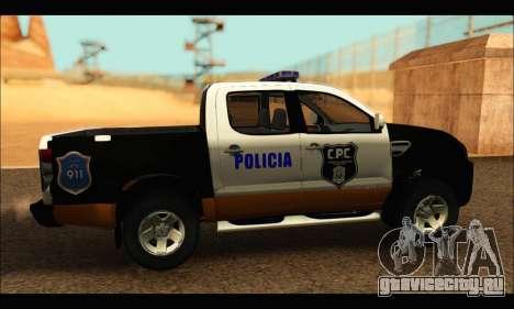 Ford Ranger P.B.A 2015 Text3 для GTA San Andreas вид сзади слева