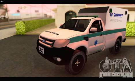 Ford Ranger 2013 Ambulancia Chubut для GTA San Andreas