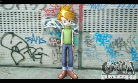 Yamato Ishida (Digimon) для GTA San Andreas третий скриншот