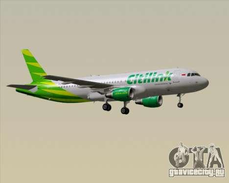 Airbus A320-200 Citilink для GTA San Andreas вид сзади слева