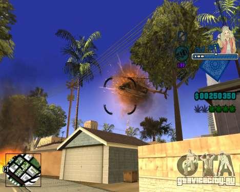 C-HUD Old Rifa для GTA San Andreas пятый скриншот