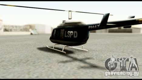 Beta Police Maverick для GTA San Andreas вид сзади слева