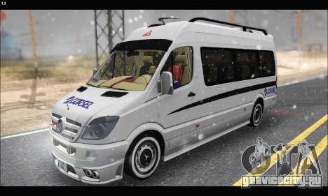 Mercedes Benz Sprinter Okul Tasiti V2 для GTA San Andreas