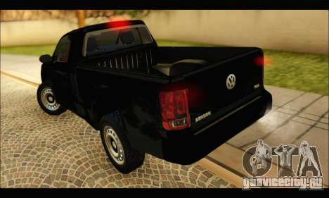 Volkswagen Amarok Cabina Simple для GTA San Andreas вид сзади слева