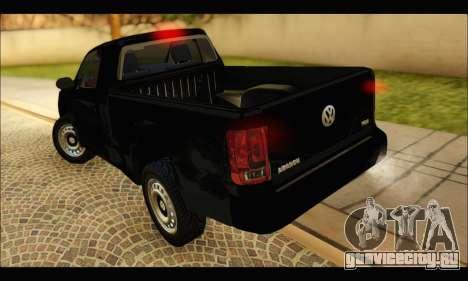 Volkswagen Amarok Cabina Simple для GTA San Andreas вид сзади слева