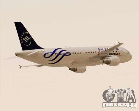 Airbus A320-200 Air France Skyteam Livery для GTA San Andreas вид сзади