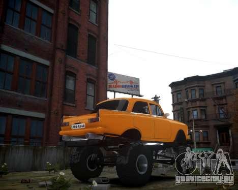 Москвич 412 Монстер для GTA 4 вид сзади слева