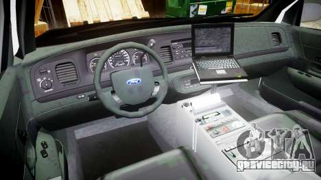 Ford Crown Victoria 2008 LCPD [ELS] для GTA 4 вид сзади