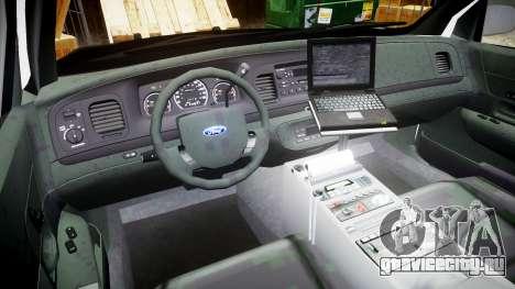 Ford Crown Victoria 2008 LCPD [ELS] для GTA 4 вид сзади