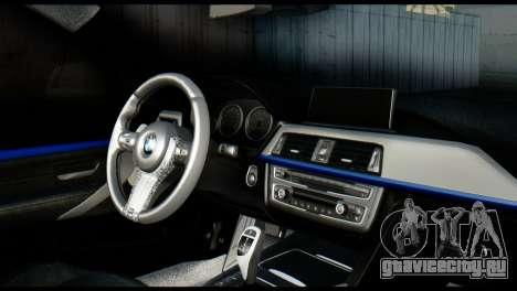 BMW 4-Series Coupe M Sport 2014 для GTA San Andreas вид сзади слева