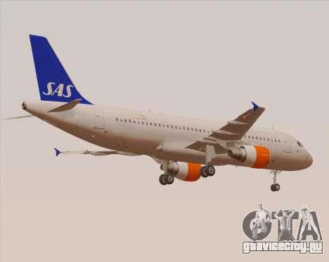 Airbus A320-200 Scandinavian Airlines - SAS для GTA San Andreas вид снизу