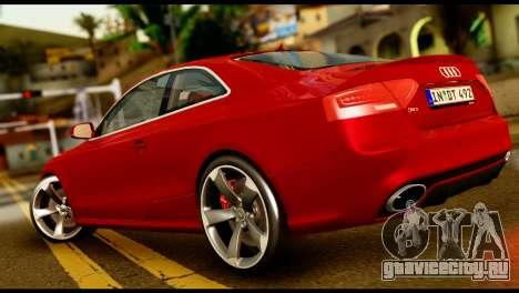 Audi RS5 2013 для GTA San Andreas вид слева