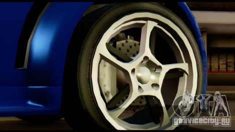 GTA 5 Dewbauchee Rapid GT Cabrio [HQLM] для GTA San Andreas вид сзади
