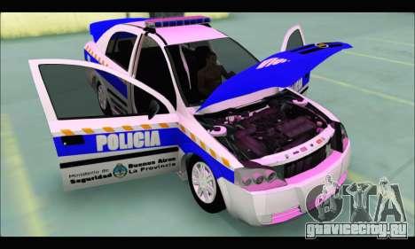 Chevrolet Astra Policia Vial Bonaerense для GTA San Andreas вид справа
