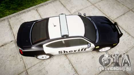 Dodge Charger SRT8 2010 Sheriff [ELS] rambar для GTA 4 вид справа
