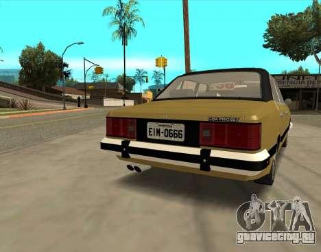 Chevrolet Opala 1980 для GTA San Andreas вид сзади слева