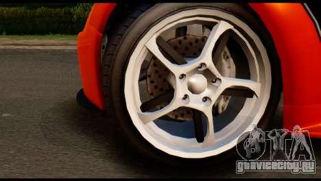 GTA 5 Dewbauchee Rapid GT Cabrio [IVF] для GTA San Andreas вид сзади слева