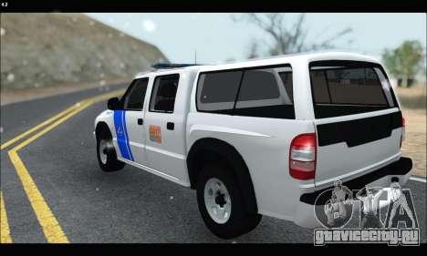 Chevrolet S-10 P.N.A для GTA San Andreas вид сзади слева