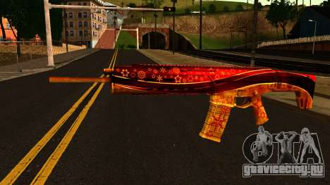 Новогодняя Штурмовая Винтовка для GTA San Andreas