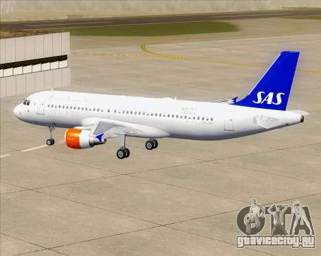 Airbus A320-200 Scandinavian Airlines - SAS для GTA San Andreas двигатель