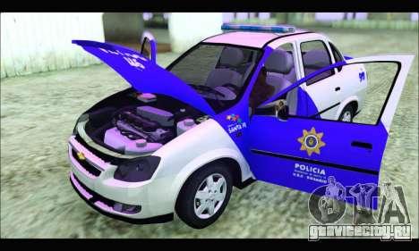 Chevrolet Corsa Classic Policia de Santa Fe для GTA San Andreas вид справа