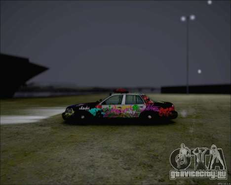 Ford Crown Victoria Ghetto Style для GTA San Andreas вид сзади слева