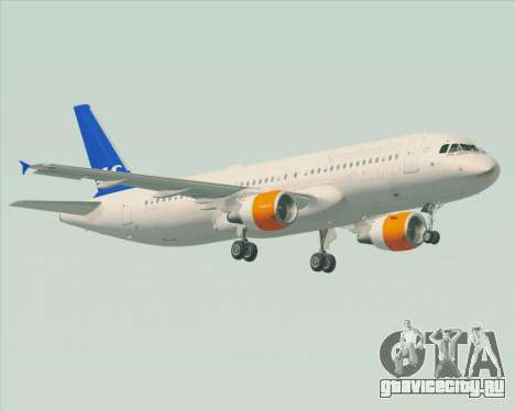 Airbus A320-200 Scandinavian Airlines - SAS для GTA San Andreas вид сбоку