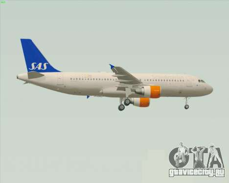 Airbus A320-200 Scandinavian Airlines - SAS для GTA San Andreas вид сзади слева