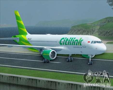 Airbus A320-200 Citilink для GTA San Andreas вид сбоку