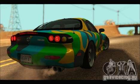 Mazda RX-7 Camo для GTA San Andreas вид сзади слева