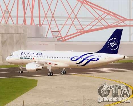 Airbus A320-200 Air France Skyteam Livery для GTA San Andreas вид изнутри