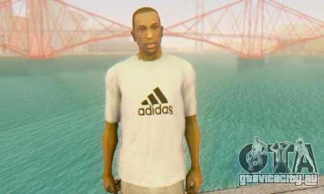 Adidas Shirt White для GTA San Andreas