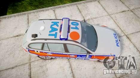 BMW 325d E91 2010 Metropolitan Police [ELS] для GTA 4 вид справа