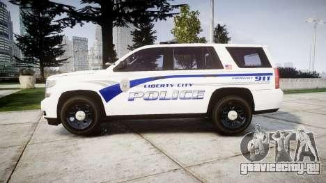Chevrolet Tahoe 2015 LCPD [ELS] для GTA 4 вид слева
