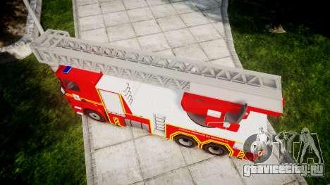 Scania R580 Marseille Fireladder [ELS] для GTA 4 вид справа