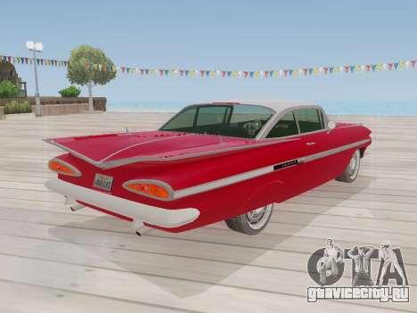 Chevrolet Impala 1959 для GTA San Andreas вид изнутри