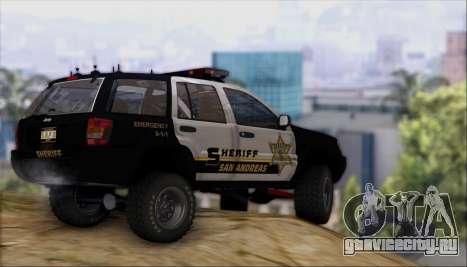 Jeep Grand Cherokee 1999 Sheriff для GTA San Andreas вид изнутри