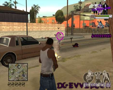 C-HUD for Ballas для GTA San Andreas второй скриншот