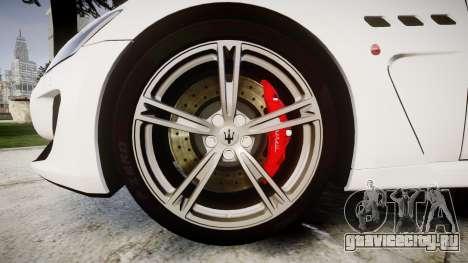 Maserati GranTurismo MC Stradale для GTA 4 вид сзади