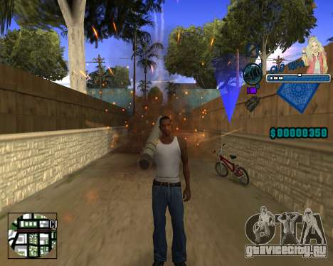C-HUD Old Rifa для GTA San Andreas второй скриншот