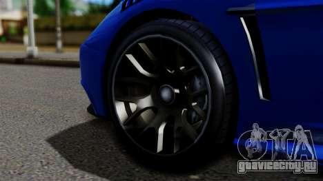 GTA 5 Dewbauchee Massacro Racecar для GTA San Andreas вид сзади слева